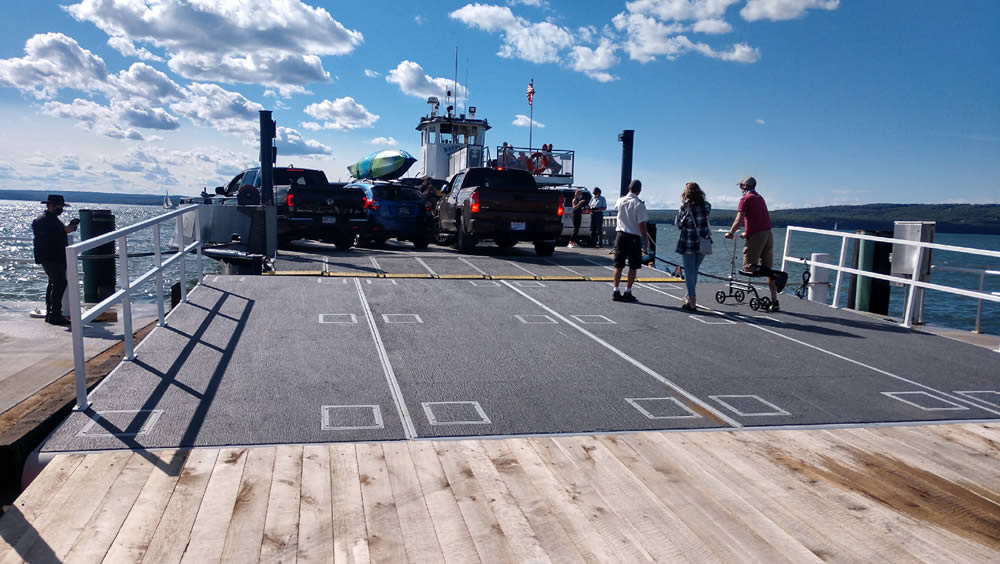 Madeline Island Ferry Ramp made by Cabs Rops Attachments